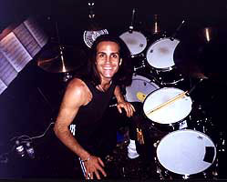 drummer Gregg Gerson smiling on kit